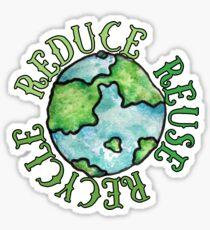Reduzieren Sie die Wiederverwendung Recyceln Sie den Tag der Erde Sticker
