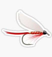Fishing Dry Fly Red Sticker