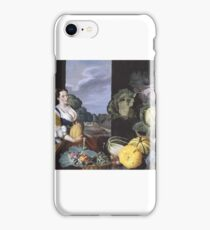 Sir Nathaniel Bacon Cookmaid with Still Life of Vegetables and Fruit  iPhone Case/Skin