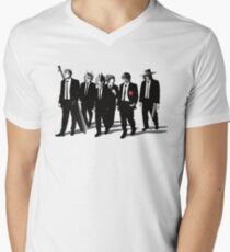 Anime Bad Dogs Mens V-Neck T-Shirt