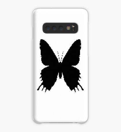 8-bit Simplex pixel Black butterfly Case/Skin for Samsung Galaxy