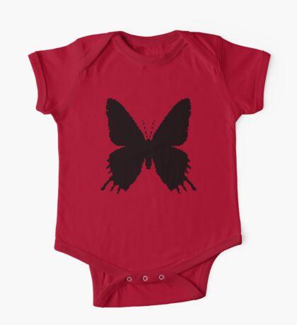 8-bit Simplex pixel Black butterfly Kids Clothes