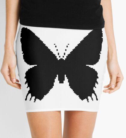 8-bit Simplex pixel Black butterfly Mini Skirt