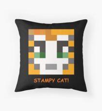 Stampy Cat! Throw Pillow