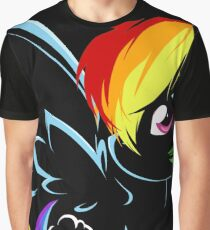 Rainbow Dash Black Graphic T-Shirt