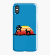 Labrador Retriever on Sunset Beach iPhone Case/Skin