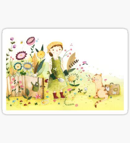 Meeting In The Garden Sticker