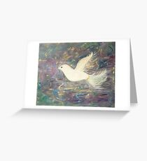 """One Winged Dove"" Greeting Card"