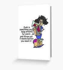 Old lady humor greeting cards redbubble humorous getting rid of junk greeting card m4hsunfo