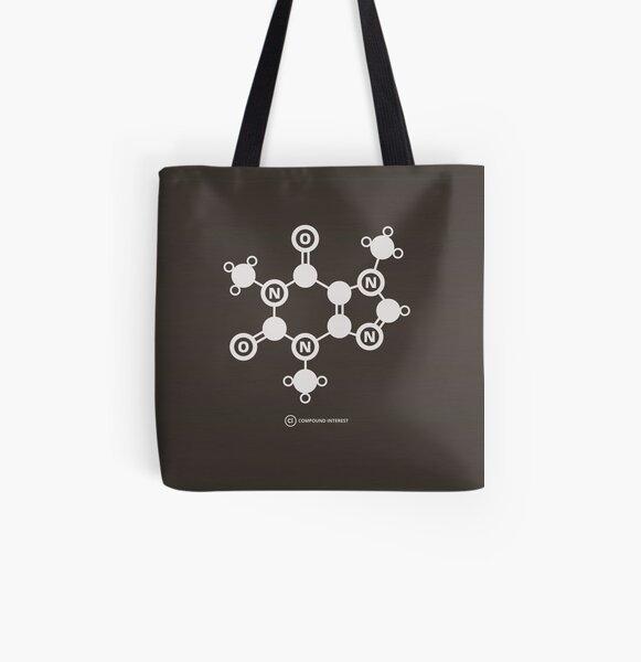 Caffeine All Over Print Tote Bag