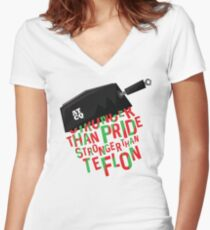 Stronger than Teflon A Tribe Called Quest Women's Fitted V-Neck T-Shirt