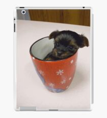 Tiny pup in cup!! iPad Case/Skin