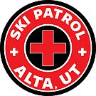 ALTA UTAH Skiing Ski Patrol Mountain Art by MyHandmadeSigns