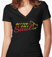 Better Call Saul LOGO Women's Fitted V-Neck T-Shirt
