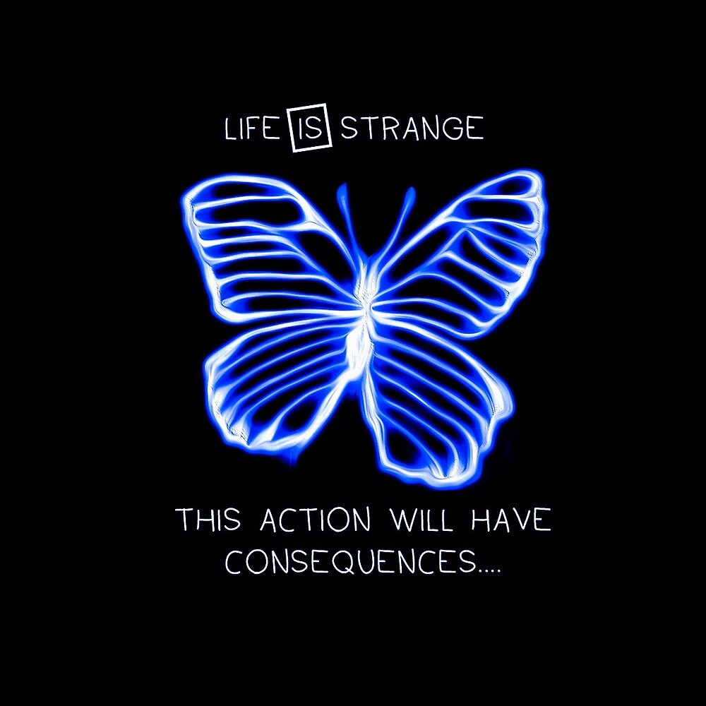 21329121 Life Is Strange Butterfly Effect Consequences Vibrant Blue on samsung vibrant