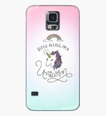 Funda/vinilo para Samsung Galaxy Perra, por favor, soy unicornio