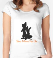 Best Friends Fur Life - Nick and Judy Women's Fitted Scoop T-Shirt