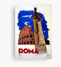 Vintage Roma Rome Italian travel Canvas Print