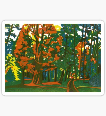 Bournemouth Gardens - Original linocut by Francesca Whetnall Sticker
