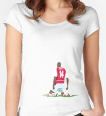 Thierry Henry at White Hart Lane Women's Fitted Scoop T-Shirt