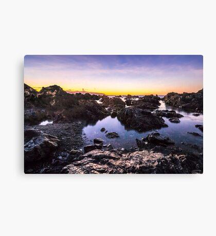 Red Rocks Walkway Dawn, Owhiro Bay Canvas Print