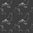 Patterned pigeons by AvalonsAyame