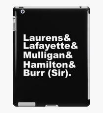 Hamilton Revolutionaries (white) iPad Case/Skin