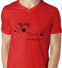"Cycling Crash, Mountain Bike "" I've Got This ! "" Cartoon Men's V-Neck T-Shirt"