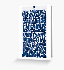 Full of Miracles (blue) Greeting Card