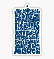 Full of Miracles (blue) Sticker