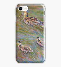 Acrylic painting, Ducks wildlife art iPhone Case/Skin