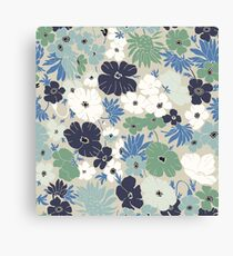 Vinage Flowers Pattern Canvas Print