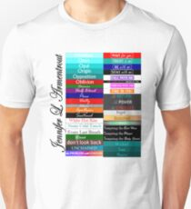 Jennifer Armentrout Book Spines Unisex T-Shirt