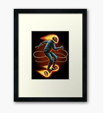 Ghost Rider On a Hoverboard Framed Print