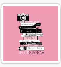 #BOOKSTAGRAM - Stack of Books (Pink) Sticker