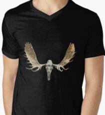 Moose skull Mens V-Neck T-Shirt