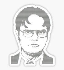 Ascii Dwight Sticker