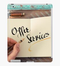 Offer Services iPad Case/Skin