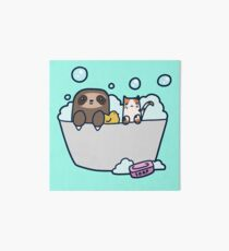 Sloth Kitty Bath Art Board