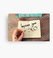 Improve Your SEO Canvas Print