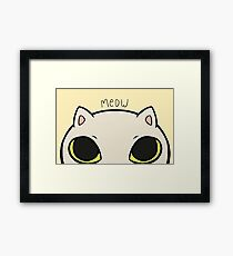 Meow - yellow Framed Print
