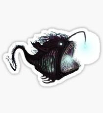 Deep sea angler - Diceratias nassa Sticker