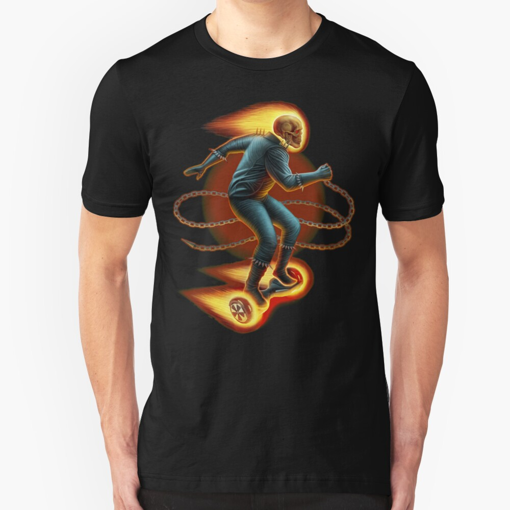 Ghost Rider On A Hoverboard Slim Fit T-Shirt