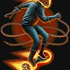 Ghost Rider On A Hoverboard by Matt Curtis