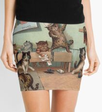 Louis Wain - Kittens Creating a CATastrophy Mini Skirt