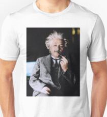 Camiseta ajustada Albert Einstein Color s Pipe