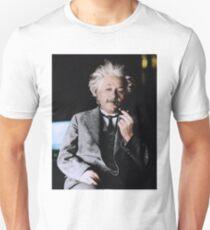 Albert Einstein Farbe s Rohr Unisex T-Shirt