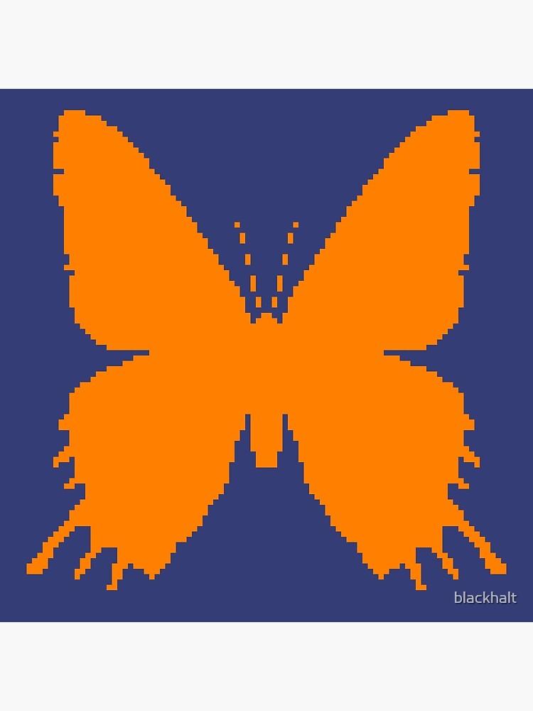 8-bit Simplex pixel Orange butterfly by blackhalt