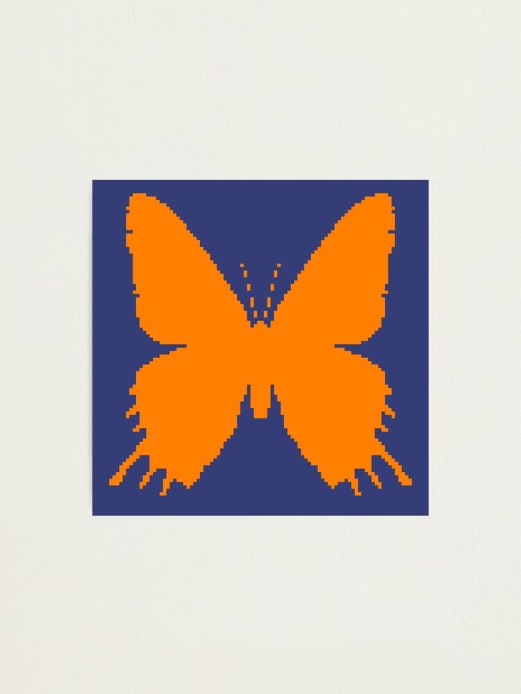 Alternate view of 8-bit Simplex pixel Orange butterfly Photographic Print