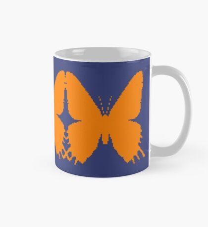 8-bit Simplex pixel Orange butterfly Mug